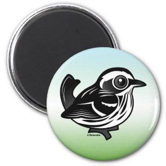 Birdorable Black & White Warbler Magnet