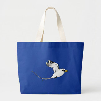 Birdorable Blanco-ató Tropicbird en vuelo Bolsa Tela Grande
