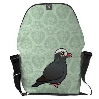 Birdorable Blanco-coronó la paloma Bolsas De Mensajeria