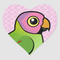 Blossom-headed Parakeet Heart Sticker