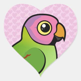 Birdorable Blossom-headed Parakeet Heart Sticker