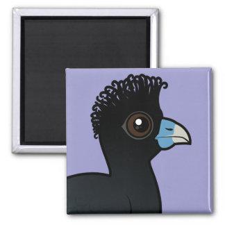 Birdorable Blue-billed Curassow 2 Inch Square Magnet