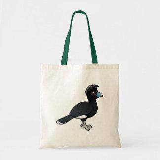 Birdorable Blue-billed Curassow Budget Tote Bag