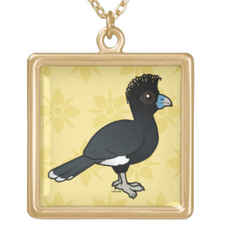 Birdorable Blue-billed Curassow Gold Plated Necklace