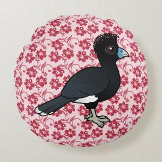 Birdorable Blue-billed Curassow Round Pillow