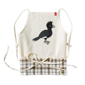 Birdorable Blue-billed Curassow Zazzle HEART Apron