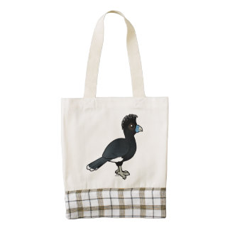 Birdorable Blue-billed Curassow Zazzle HEART Tote Bag