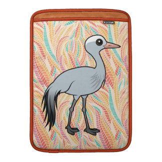 Birdorable Blue Crane MacBook Sleeves