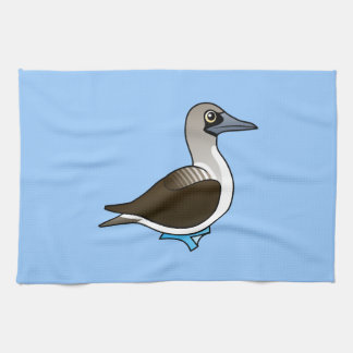 Birdorable Blue-footed Booby Kitchen Towel