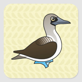 Birdorable Blue-footed Booby Square Sticker
