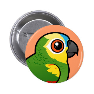 Birdorable Blue-fronted Parrot Pinback Button