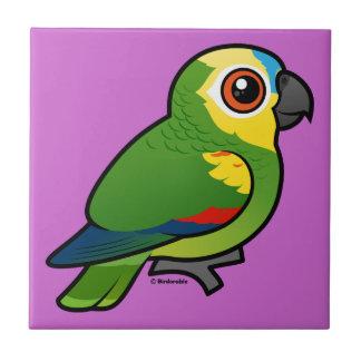 Birdorable Blue-fronted Parrot Ceramic Tile