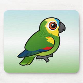Birdorable Blue-fronted Parrot Mouse Pad