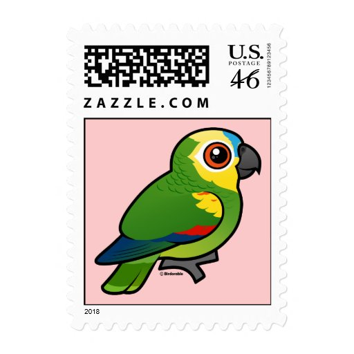 Birdorable Blue-fronted Parrot Stamps