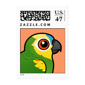 Birdorable Blue-fronted Parrot Stamp