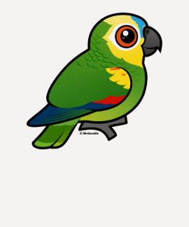 Birdorable Blue-fronted Parrot Tshirts