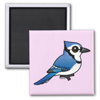 Birdorable Blue Jay 2 Inch Square Magnet