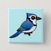 Birdorable Blue Jay Square Button