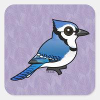 Birdorable Blue Jay Square Sticker