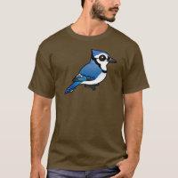 Birdorable Blue Jay Men's Basic Dark T-Shirt