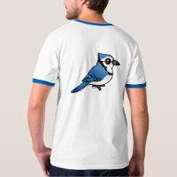 Birdorable Blue Jay Men's Basic Ringer T-Shirt