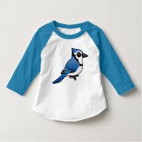 Birdorable Blue Jay Toddler American Apparel 3/4 Sleeve Raglan T-Shirt