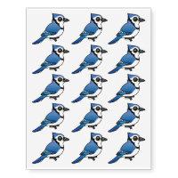 Birdorable Blue Jay Temporary Tattoos