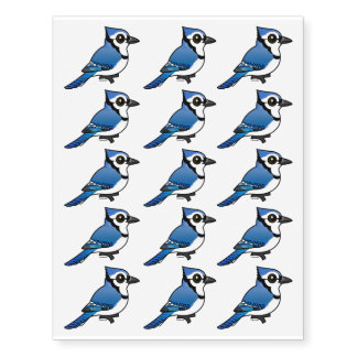 Birdorable Blue Jay Temporary Tattoos
