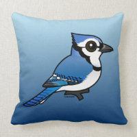 Birdorable Blue Jay Throw Pillow 20