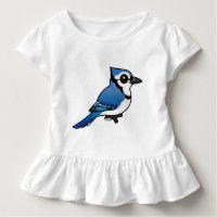 Birdorable Blue Jay Toddler Ruffle Tee