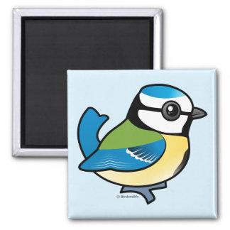 Birdorable Blue Tit 2 Inch Square Magnet
