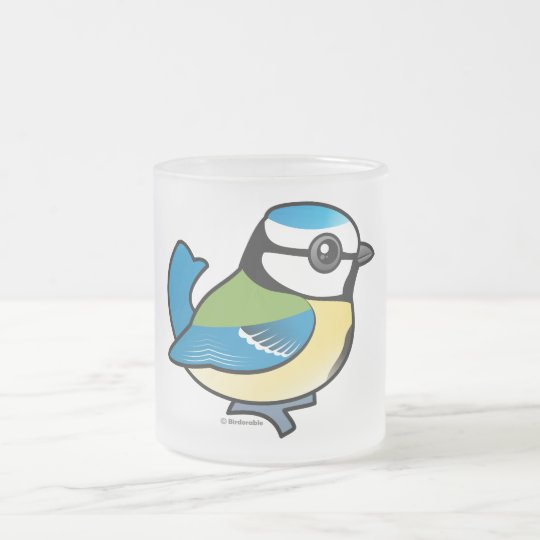 Birdorable Blue Tit Frosted Glass Coffee Mug