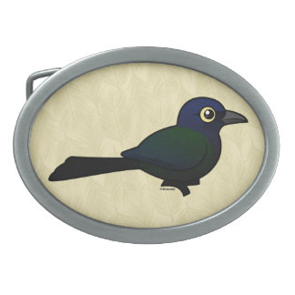 Birdorable Boat-tailed Grackle Belt Buckle