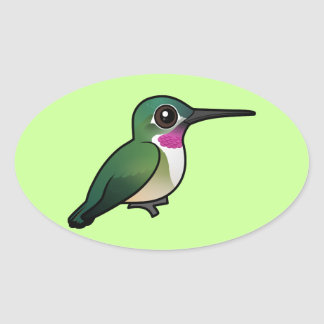 Birdorable Broad-tailed Hummingbird Oval Sticker