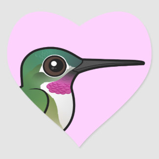 Birdorable Broad-tailed Hummingbird Heart Sticker