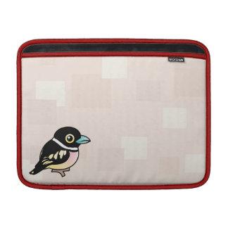 Birdorable Broadbill Negro-y-amarillo Fundas Macbook Air