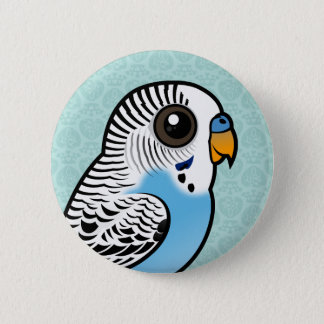 Birdorable Budgie Blue Pinback Button