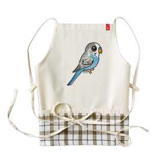 Birdorable Budgie Blue Zazzle HEART Apron