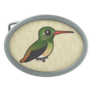 Birdorable Buff-bellied Hummingbird Belt Buckle