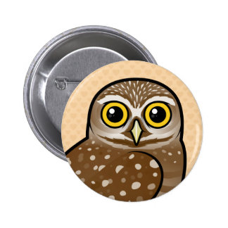 Birdorable Burrowing Owl 2 Inch Round Button