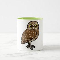 Birdorable Burrowing Owl Two-Tone Coffee Mug