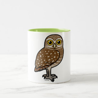 Birdorable Burrowing Owl Two-Tone Coffee Mug