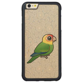 Birdorable Carolina Parakeet Carved® Maple iPhone 6 Plus Bumper