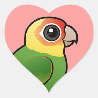 Birdorable Carolina Parakeet Heart Sticker