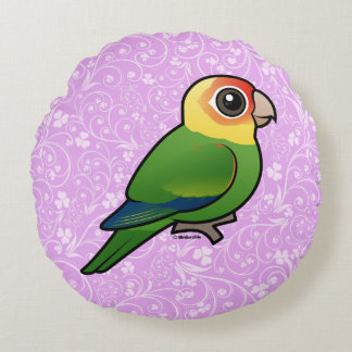 Birdorable Carolina Parakeet Round Pillow