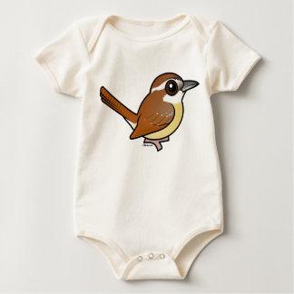 Birdorable Carolina Wren Baby Bodysuit