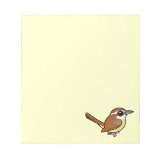 Birdorable Carolina Wren Scratch Pads