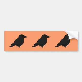 Birdorable Carrion Crow Bumper Stickers