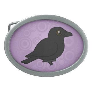 Birdorable Carrion Crow Oval Belt Buckle