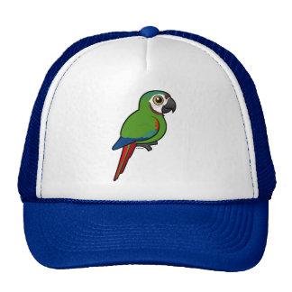 Birdorable Castaña-afrontó el Macaw Gorro